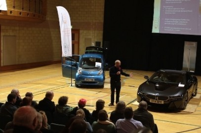 The Orkney Electric Vehicle Show featuring Robert Llewellyn and the BMW i8