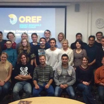 OREF Introductory Evening for ICIT Students, 15th September 2016
