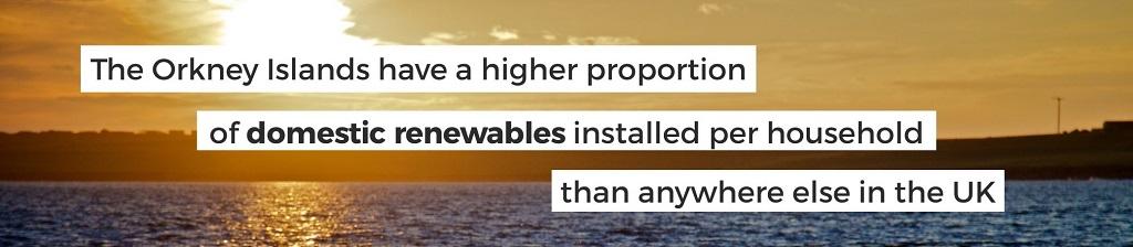 Domestic renewables in Orkney